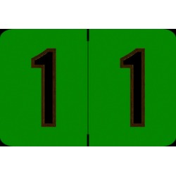 """Barkley NCPM Compatible Numeric """"1"""" Labels, Laminated Stock, 1"""" X 1-1/2"""" Individual Numbers - Roll of 500"""