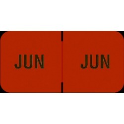 "Barkley FMBLM Compatible ""Jun"" Month Labels, Laminated Stock,1-1/2"" x 3/4"", Individual Months - Roll of 250"