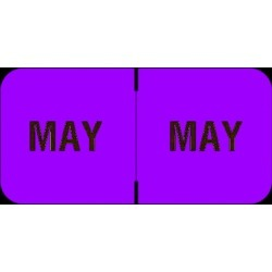 "Barkley FMBLM Compatible ""May"" Month Labels, Laminated Stock,1-1/2"" x 3/4"", Individual Months - Roll of 250"