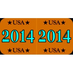 "Patriot Compatible ""14"" Yearband Labels, Patriotic Labels,Laminated Stock 1-1/2"" x 3/4"" - 500 per Roll"