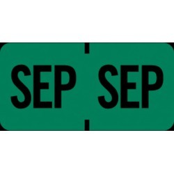 "Tab Compatible ""Sep"" Month Labels, Vinyl Kimdura Stock, 1"" X 1/2"", Individual Months - Roll of 1000"