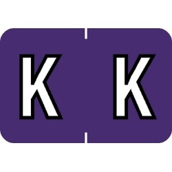 "Barkley ABKM Compatible ""K"" Labels, Laminated Stock, 1"" X 1-1/2"" Individual Letters - Roll of 500"