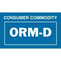 """2-1/4"""" x 1-3/8"""" Consumer Commodity ORM-D Labels (500 per Roll)"""