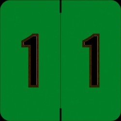 """Barkley FNBRM Compatible  """"1"""" Numeric Labels, Laminated Stock, 1-1/2"""" x 1-1/2"""" Individual Numbers - Roll of 500"""