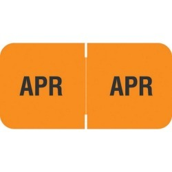 "Barkley FMBLM Compatible ""Apr"" Month Labels, Laminated Stock,1-1/2"" x 3/4"", Individual Months - Roll of 250"