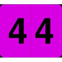 "Barkley VA  Hospital Compatible Numeric ""4"" Labels, Laminated Stock, 1/2"" X 1"" Individual Numbers - Roll of 1000"