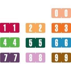 "Tab Compatible Mini Numeric Labels, Vinyl Kimdura Stock, 1/2"" X 1"" Individual Numbers - Roll of 500"