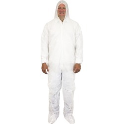 5X, White Dupont Tyvek Coverall, Hood & Boots (25 per Case) found on Bargain Bro Philippines from The Supplies Shop for $264.73