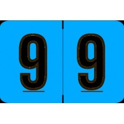 "Barkley NCPM Compatible Numeric ""9"" Labels, Laminated Stock, 1"" X 1-1/2"" Individual Numbers - Roll of 500"