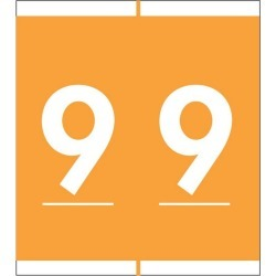"""Barkley NBAM Compatible Mini """"9"""" Numeric Labels, Laminated Stock, 1/2"""" X 1-1/2"""" Individual Numbers - Roll of 500"""