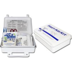 Plastic 25 Man First Aid Kit, Meets New ANSI 25 Specs, w/Eyewash (Sold Individually)