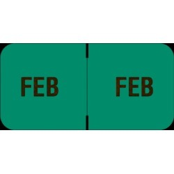 "Barkley FMBLM Compatible ""Feb"" Month Labels, Laminated Stock,1-1/2"" x 3/4"", Individual Months - Roll of 250"