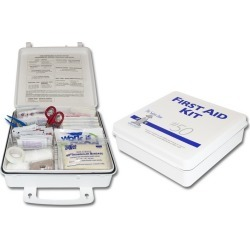 Plastic 50 Man First Aid Kit, Meets New ANSI Plus Specs (Sold Individually)