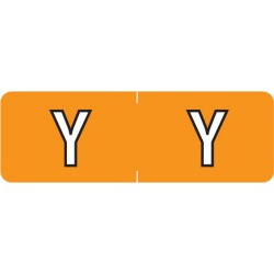 "Barkley ABAM Compatible Mini ""Y"" Labels, Laminated Stock, 1/2"" X 1-1/2"" Individual Letters - Roll of 500"