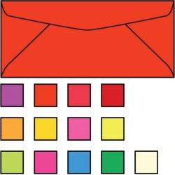 #10 Bright Orange Envelopes, 4-1/8
