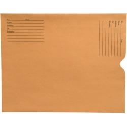 28lb Brown Kraft Negative Preserver, Open End, Standard Imprint, 11-1/2