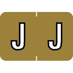 "Barkley ABKM Compatible ""J"" Labels, Laminated Stock, 1"" X 1-1/2"" Individual Letters - Roll of 500"