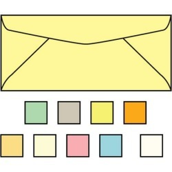 #10 Pastel Canary Envelopes, 4-1/8