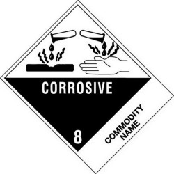 "4"" x 4-3/4"" Corrosive - Paint Related Materials UN3066 Labels (500 per Roll)"