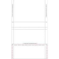"""8-1/2"""" x 14"""" 1Part/2 Way with Return, Uneven C Fold with Blue Tint (Carton of 1000)"""