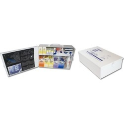 Metal 100 Man First Aid Kit, Meets New ANSI Specs (Sold Individually)