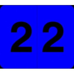 """Barkley VA  Hospital Compatible Numeric """"2"""" Labels, Laminated Stock, 1/2"""" X 1"""" Individual Numbers - Roll of 1000"""