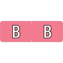 """Barkley ABAM Compatible Mini """"B"""" Labels, Laminated Stock, 1/2"""" X 1-1/2"""" Individual Letters - Roll of 500"""