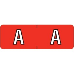 "Barkley ABAM Compatible Mini ""A"" Labels, Laminated Stock, 1/2"" X 1-1/2"" Individual Letters - Roll of 500"