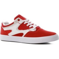 DC Shoes Kalis Vulc Skate Shoes - red/white 9