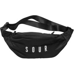 Sour Army Embroidered Hip Bag - black/white