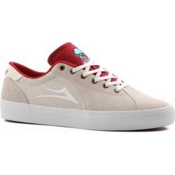 Lakai Flaco II Skate Shoes - (glaboe) white/red 13