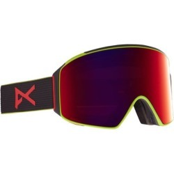 Anon M4 Cylindrical Goggles + MFI Face Mask & Bonus Lens - black pop/perceive sunny red + perceive cloudy burst lens found on Bargain Bro India from tactics.com dynamic for $299.95