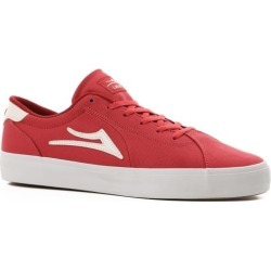 Lakai Flaco II Skate Shoes - red canvas 11