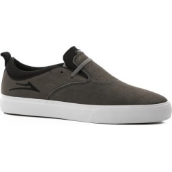 Lakai Riley 2 Skate Shoes - charcoal synthetic nubuck 7