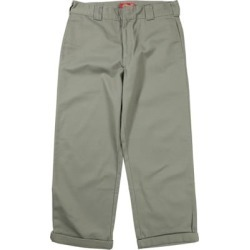 Dickies Women's Work Crop Roll Hem Pants - olive 9 found on Bargain Bro Philippines from tactics.com dynamic for $33.95