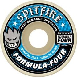 Spitfire Formula Four Conical Full Skateboard Wheels - white (99d) 56mm