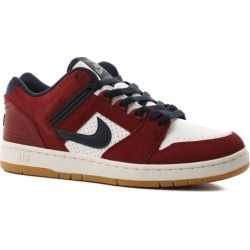 Nike SB Air Force II Skate Shoes - team red/obsidian-white-summit white 9