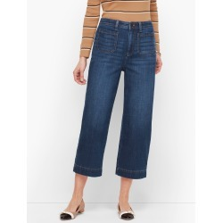 Wide Leg Crop Jeans - Comet Wash - 14 Talbots found on Bargain Bro India from Talbots for $47.99
