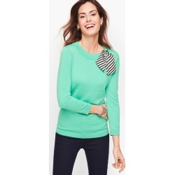 Stripe Scarf Detail Sweater - Pale Jade - XXS Talbots found on Bargain Bro India from Talbots for $34.99