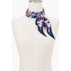 Silk Paradise Floral Diamond Scarf - White - 001 Talbots found on Bargain Bro from Talbots for USD $37.62