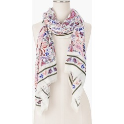 Watercolor Paisley Oblong Scarf - Ivory - 001 Talbots found on Bargain Bro Philippines from Talbots for $22.49