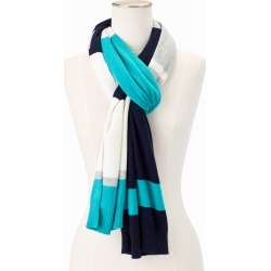 Soft Stripe Scarf - Blue - 001 Talbots found on Bargain Bro India from Talbots for $19.99