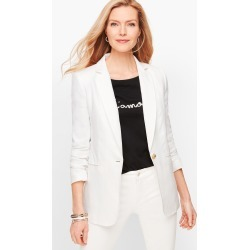Classic Linen Blazer - White - 10 Talbots found on Bargain Bro from Talbots for USD $128.44