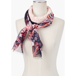 Twilight Paisley Scarf - Ivory - 001 Talbots found on Bargain Bro India from Talbots for $22.49
