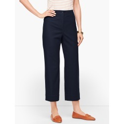 Wide Leg Crop Chinos Pants - Blue - 4 Talbots found on Bargain Bro India from Talbots for $35.99
