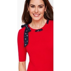 Scarf Tie Sweater - Red - XXS Talbots found on Bargain Bro Philippines from Talbots for $34.99
