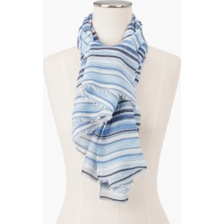 Shimmer Stripe Oblong Scarf - Blue Sky - 001 Talbots found on Bargain Bro Philippines from Talbots for $19.99