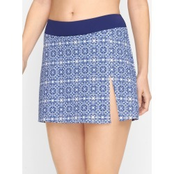 Cabana Life® Side Slit Swim Skirt - Mosaic - Ink - Small Talbots found on Bargain Bro from Talbots for USD $49.02
