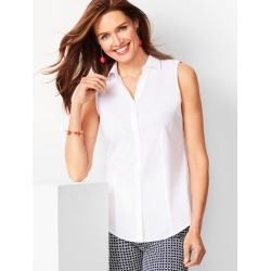 Sleeveless Perfect Shirt - Solid - White - 6 Talbots