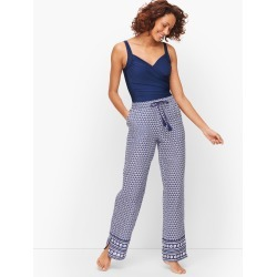 Crinkle Cotton Beach Pants - Geo Print - XS Talbots found on Bargain Bro from Talbots for USD $60.42